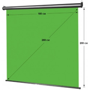Самый удобный зеленый фон для работы с Хромакей