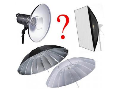 Студийный свет: софтбокс, зонтик или портретная тарелка