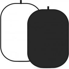 Фон в пружинной рамке Visico BP-028 2в1 (черный/белый) 150x200см