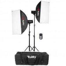 Набор постоянного света Tolifo EF-200W-2 Softbox Kit