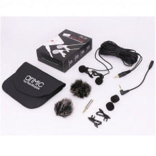 Петличный микрофон двойной Ulanzi AriMic Lapel Dual Long 6м (3.5mm)