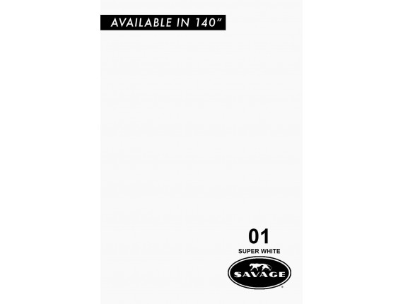 Фон бумажный Savage Widetone Super White 2.18m x 11m