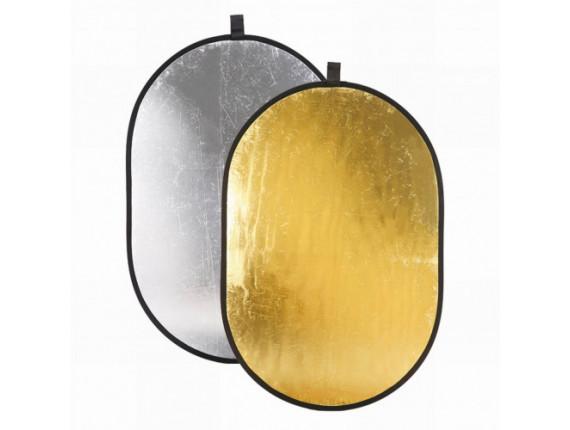Отражатель Jinbei DF-912 2в1 silver/gold (90x120см)