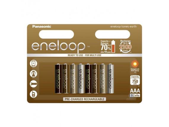Аккумулятор Panasonic Eneloop ААA 750mAh Tones Earth BK-4MCCE/8UE (8шт.)