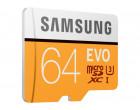 Карта памяти Samsung 64GB microSDXC C10 UHS-I U3 R100/W60MB/s Evo Plus + SD адаптер (MB-MC64GA/RU)