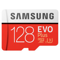 Карта памяти Samsung 128GB microSDXC C10 UHS-I U3 R100/W90MB/s Evo Plus + SD адаптер (MB-MC128GA/RU)