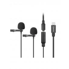 Петличный микрофон двойной Boya BY-M2D для iPhone