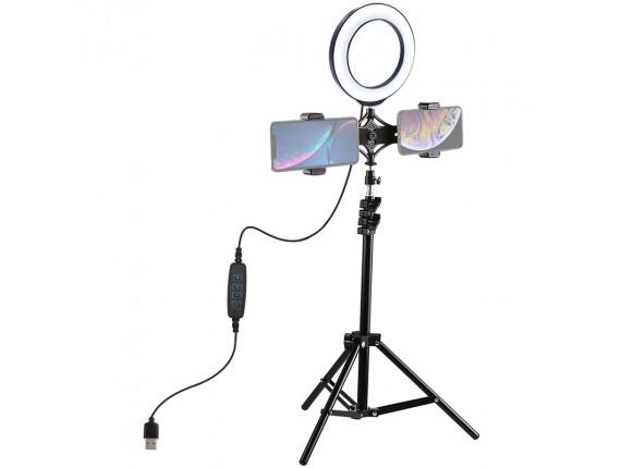 Кольцевой свет со стойкой Puluz PKT3036 Ring Light 16см (14W)