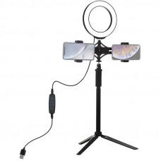 Кольцевой свет со стойкой Puluz PKT3038 Ring Light 16см (14W)