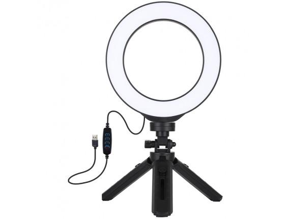 Кольцевой свет со стойкой Puluz PKT3059B Ring Light 16см (14W)