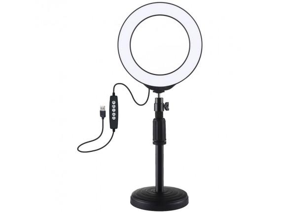 Кольцевой свет со стойкой Puluz PKT3047B RGB Ring Light 16см (12W)