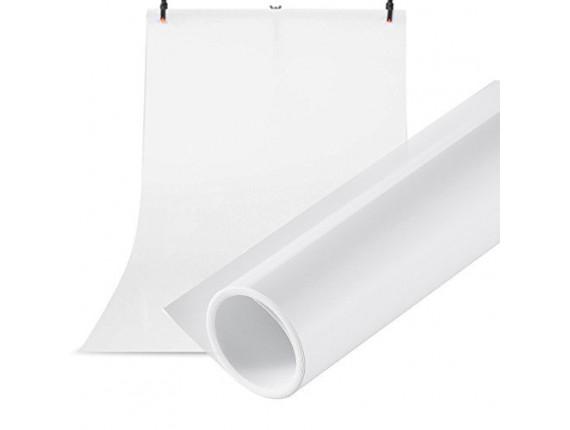 Фон для съёмки Visico PVC-7013 White (70x130см)