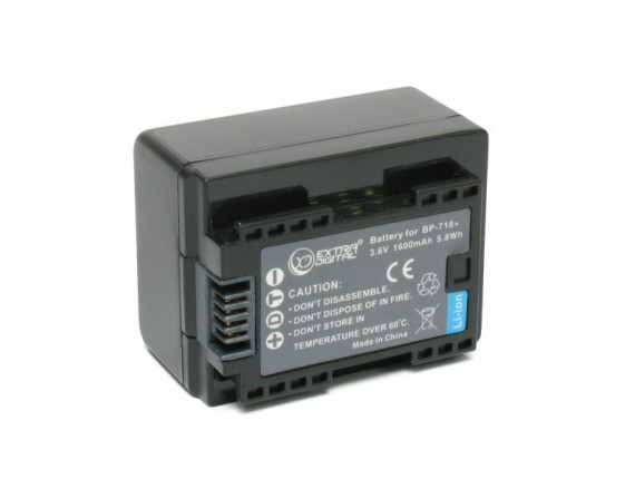 Аккумулятор Canon BP-718 chip - ExtraDigital (BDC1301)