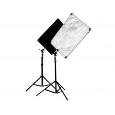 Отражатель Boling flag reflector FG-01 silver-black 80-100см
