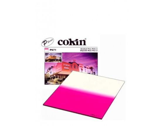 Квадратный фильтр Cokin P 671 Gradual Fluo Pink 2