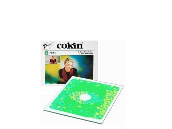 Квадратный фильтр Cokin P 674 C.Spot Blue / Yellow