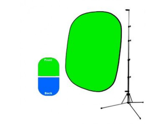Фон в пружинной рамке Savage Infinity Collapsible Chroma Green/Blue 1.52m x 1.83m + Стойка