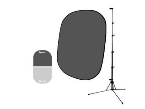 Фон в пружинной рамке Savage Infinity Collapsible Dark/Light Gray 1.52m x 1.83m + Стойка