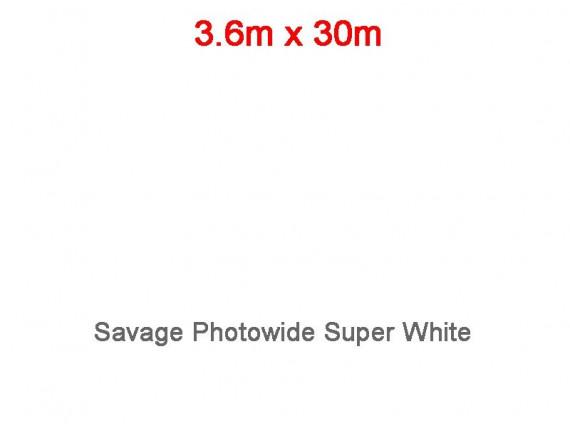 Фон бумажный Savage Photowide Super White 3.60m x 30m