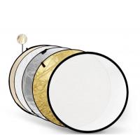 Отражатель Godox-Pioneer 5 в 1 (110см) Soft Gold