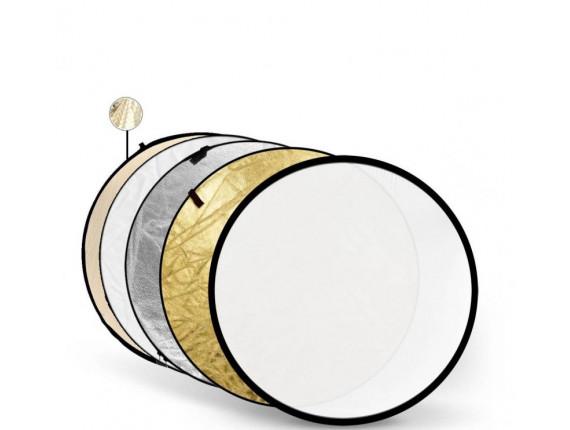 Отражатель Godox-Pioneer 5 в 1 (80см) Soft Gold