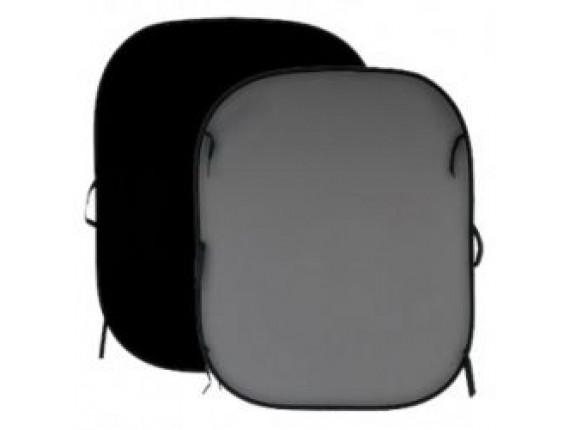Фон в пружинной рамке LASTOLITE Black/Mid Grey 1,5x1,8m (56GB)