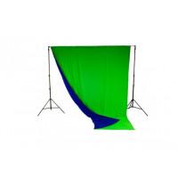 Фон тканевый двухсторонний LASTOLITE Chromakey Blue/Green 3x7m (5887)