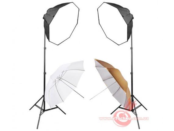 Набор постоянного света Mircopro FL-305-2 Mini Studio Kit