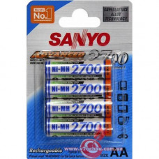 Аккумулятор Sanyo R6 AA (2700mAh) x 4шт