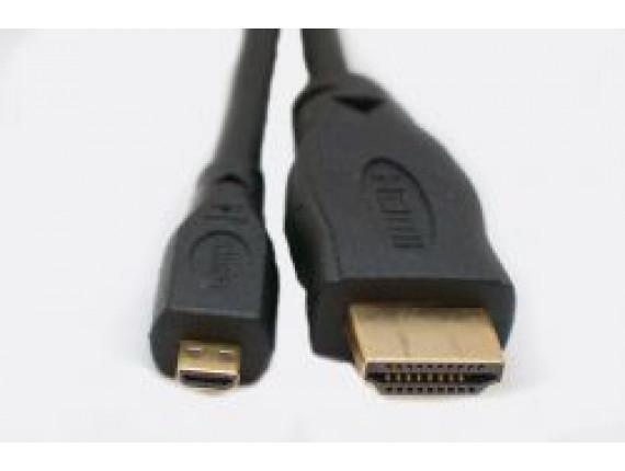 Видео кабель ExtraDigital Micro HDMI to HDMI, 0.5m, 1.3V (KD00AS1521)