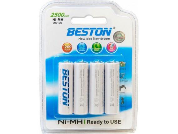 Батарейка Beston AA 2500mAh Ni-MH 4шт READY-TO-USE (AAB1827)