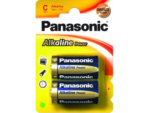 Батарейка Panasonic Alkaline Power D, 2шт. (LR20REB/2BP)