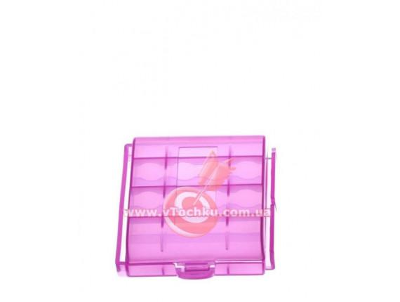 Футляр для аккумуляторов Sanyo battery case 4 (AA/AAA) pink