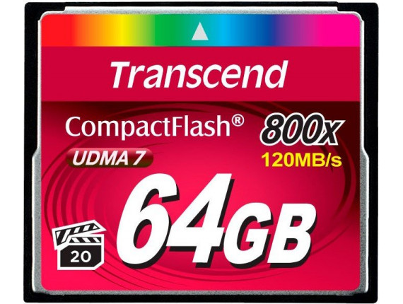 Карта памяти Transcend CompactFlash 64GB 800x (TS64GCF800)