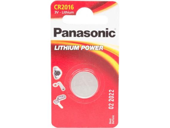 Батарейка Panasonic CR2016 Lithium, 1шт. (CR-2016EL/1B)