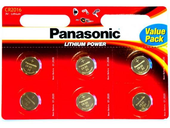 Батарейка Panasonic CR2016 Lithium, 6шт. (CR-2016EL/6B)