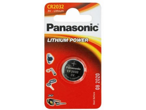 Батарейка Panasonic CR 2032 BLI 1 Lithium (CR-2032EL/1B)