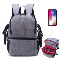 Рюкзак AccPro DAC-1721R grey/red