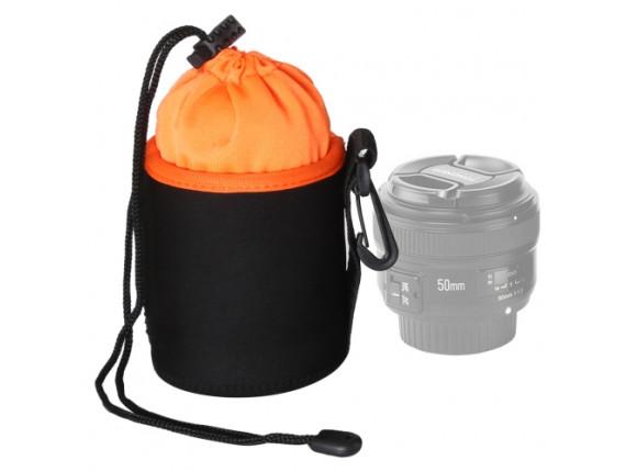 Чехол для объектива AccPro CA-1791E-S black/orange