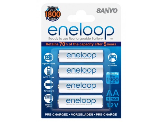 Аккумулятор Sanyo Eneloop R6 АА (1900mAh) x 4шт. (HR-3UTGB-4BP)