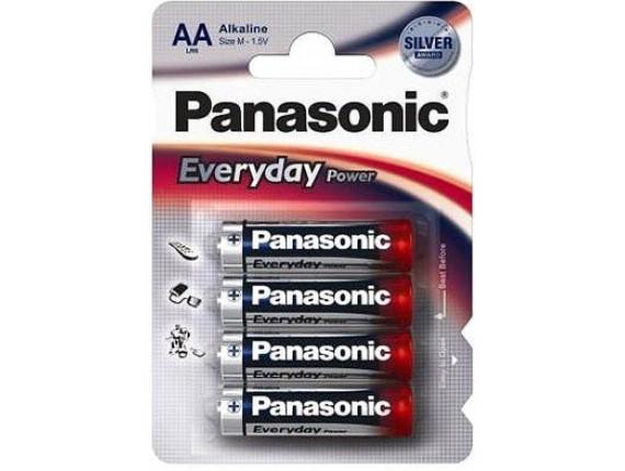 Батарейка Panasonic LR06 Everyday Power AA Bli 4 Alkaline (LR6REE/4BR)