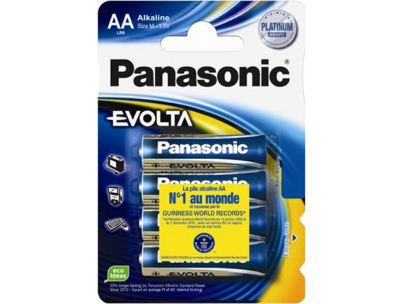 Батарейка Panasonic EVOLTA AA BLI 4 ALKALINE (LR6EGE/4BP)