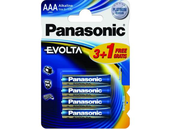 Батарейка Panasonic EVOLTA AAA BLI 4 ALKALINE (LR03EGE/4BP)