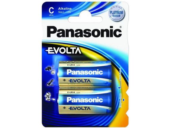 Батарейка Panasonic EVOLTA D BLI 2 ALKALINE (LR20EGE/2BP)