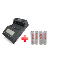 Зарядное устройство ExtraDigital BM210 (AAC2831) + 4шт AA 2500 mAh