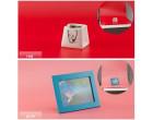 Фон для съёмки Visico PVC-7013 Pink (70x130см)