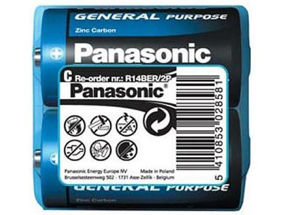 Батарейка Panasonic General Purpose C Zinc-Carbon, 2шт. (R14BER/2P)