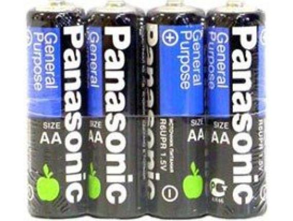 Батарейка Panasonic General Purpose AA Zinc-Carbon, 4шт. (R6BER/4P)