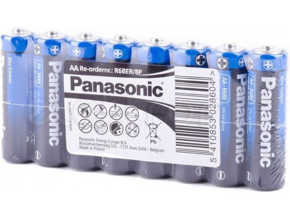 Батарейка Panasonic General Purpose AA Zinc-Carbon, 8шт. (R6BER/8P)