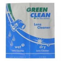 Салфетки для чистки оптики Green Clean LC-7010-1 вл+сух